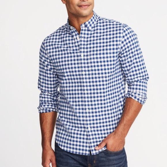 11904f42512c4 Men s Navy Blue Gingham Shirt. NWT. Old Navy.  20  40. Size. XL